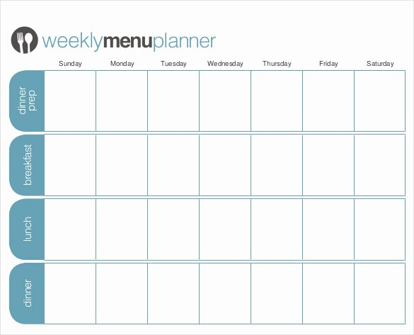 Free Menu Plan Template Unique 31 Menu Planner Templates Free Sample Example format