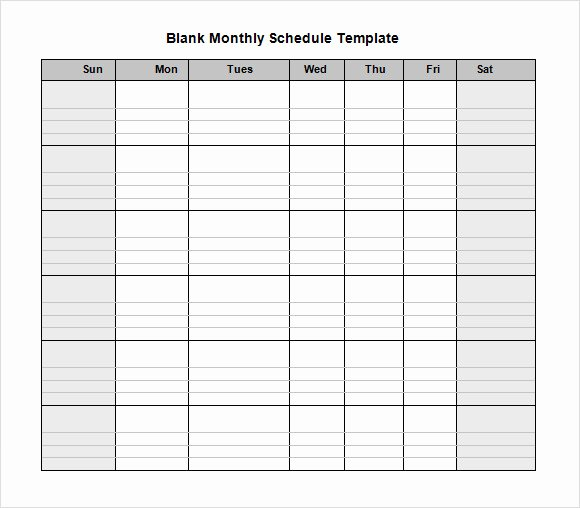 Free Monthly Employee Schedule Template Best Of Blank Schedule Template 6 Download Free Documents In Pdf