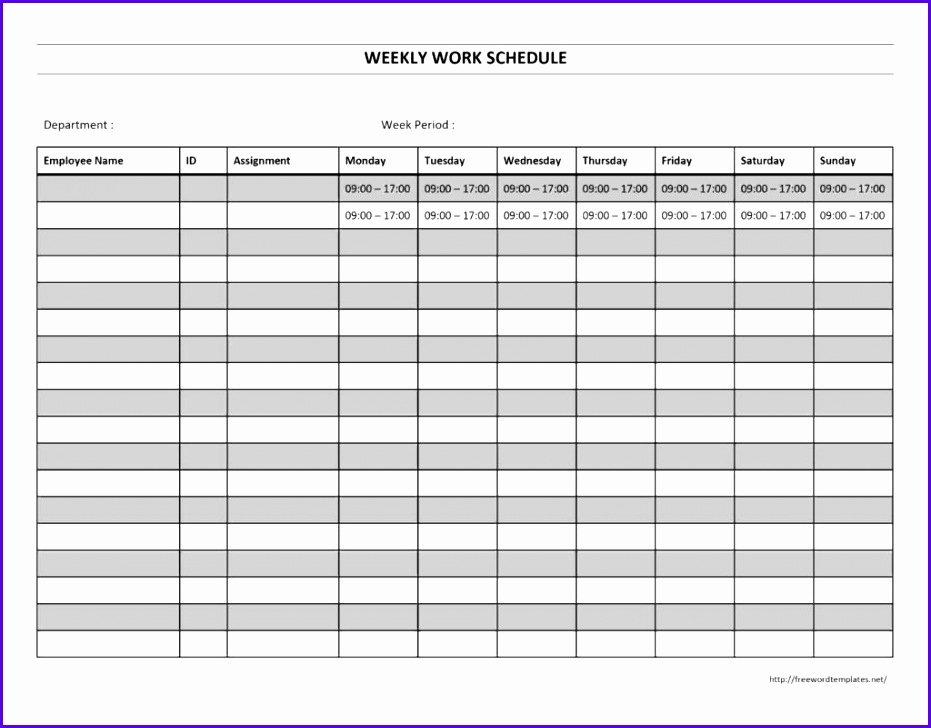 Free Monthly Employee Schedule Template Luxury 14 Free Excel Employee Schedule Template Exceltemplates