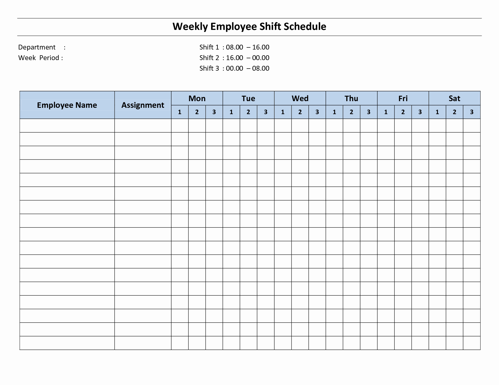 Free Monthly Employee Schedule Template Luxury Free Printable Employee Work Schedules