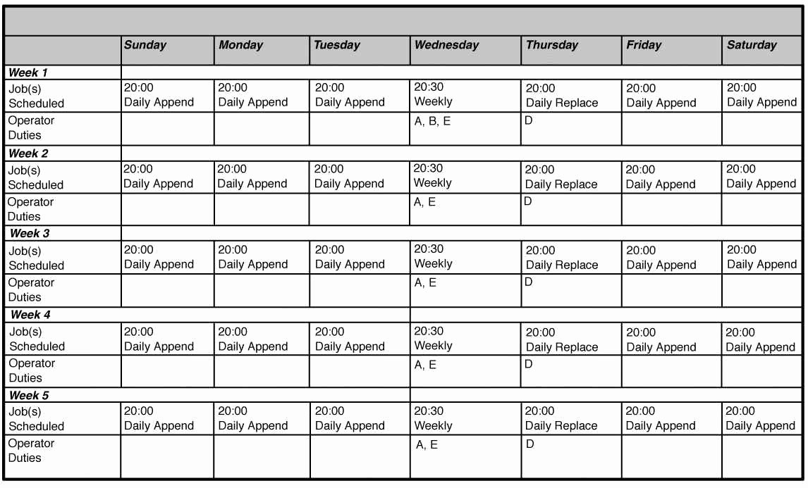 Free Monthly Employee Schedule Template Luxury Monthly Employee Schedule Template Excel – Printable