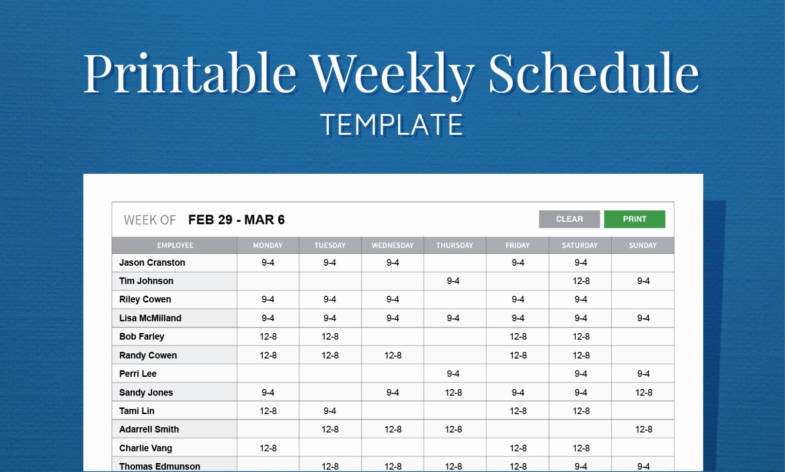 Free Monthly Work Schedule Template Elegant Staff Rota Spreadsheet Spreadsheet Downloa Staff Rota