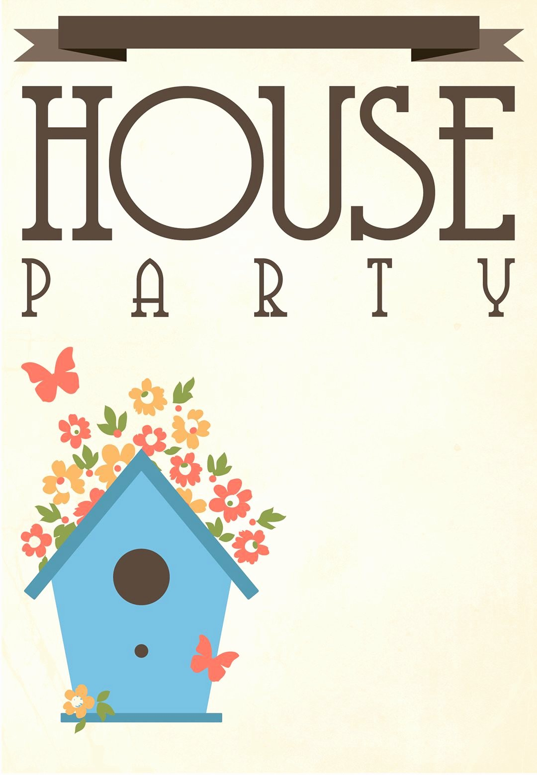 Free Open House Invitation Template Beautiful Free Printable House Party Invitation