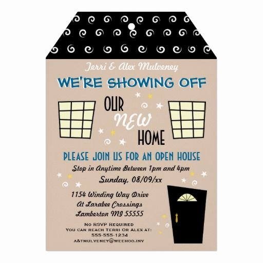 Free Open House Invitation Template Beautiful Whimsical Tag Cut Open House Invitation