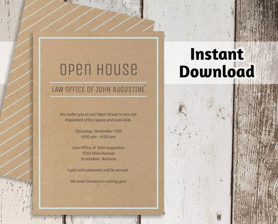 Free Open House Invitation Template Best Of Printable Business Invitation Template Open House Business