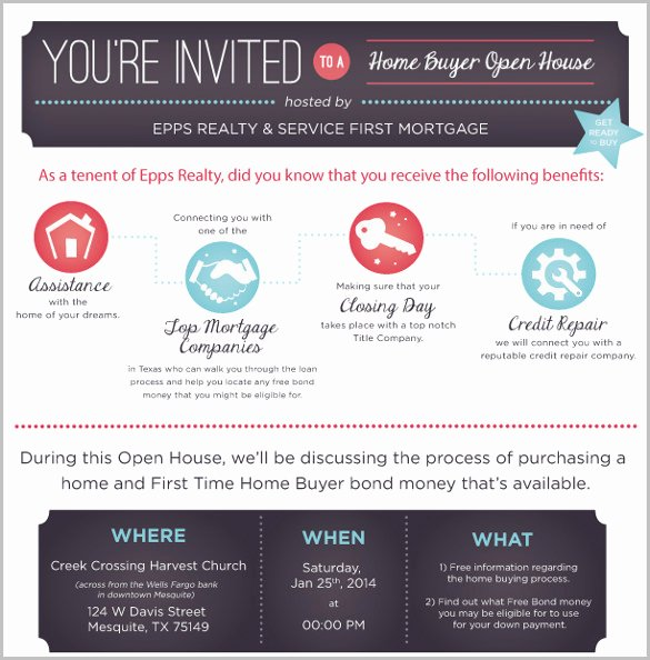 Free Open House Invitation Template Fresh 14 Open House Invitation Templates Free Psd Vector Eps