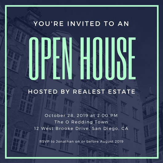 Free Open House Invitation Template Luxury Open House Invitation Templates Canva