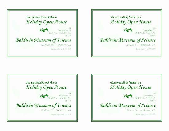 Free Open House Invitation Template New Download Free Printable Invitations Of Holiday Open House
