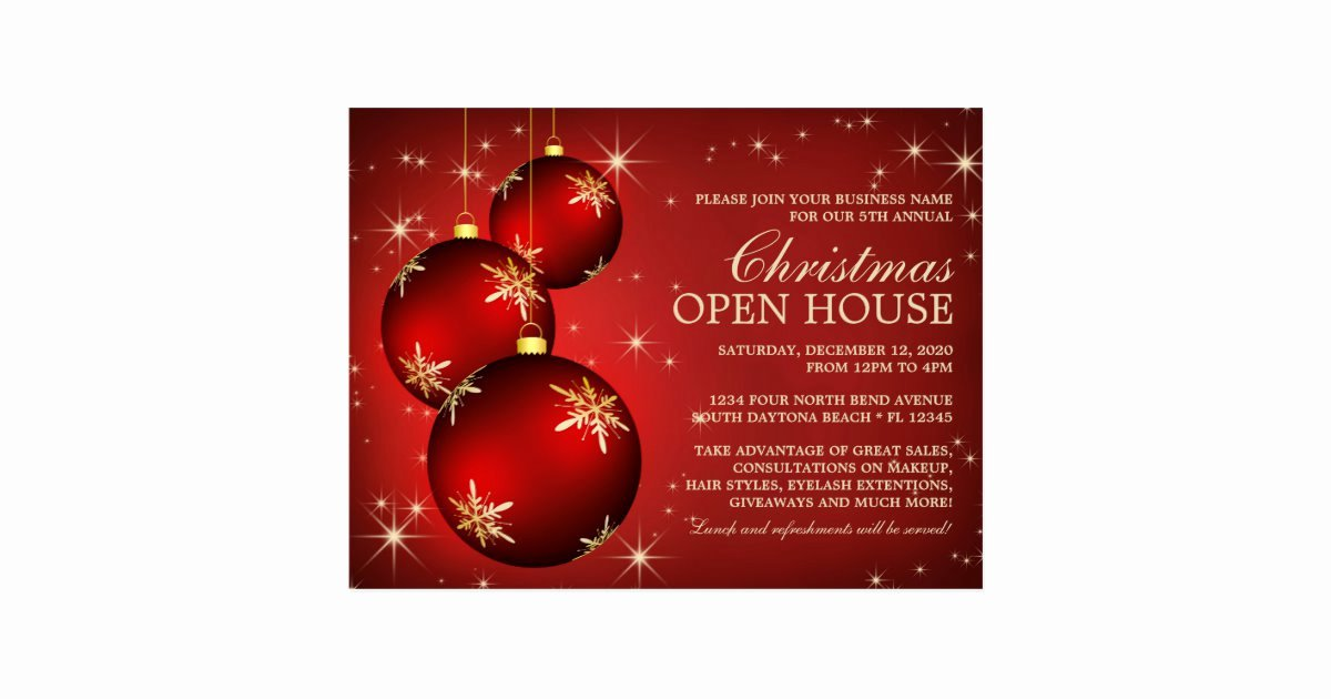 Free Open House Invitation Template New Elegant Christmas Open House Invitation Template Postcard