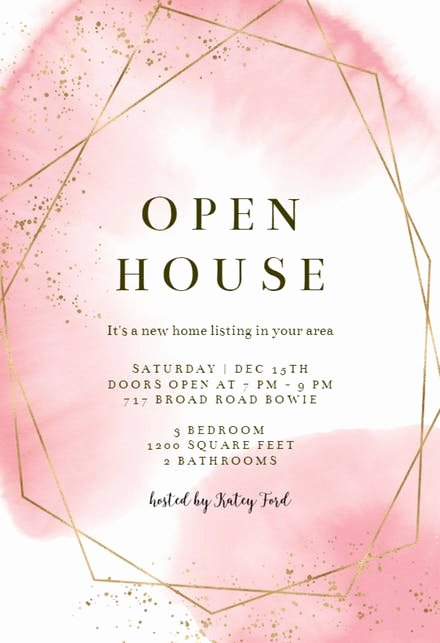 Free Open House Invitation Template New Open House Invitation Templates Free