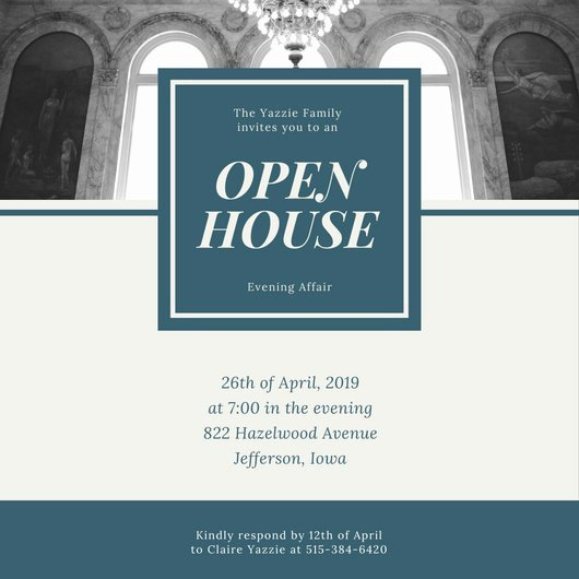 Free Open House Invitation Template Unique Customize 498 Open House Invitation Templates Online Canva
