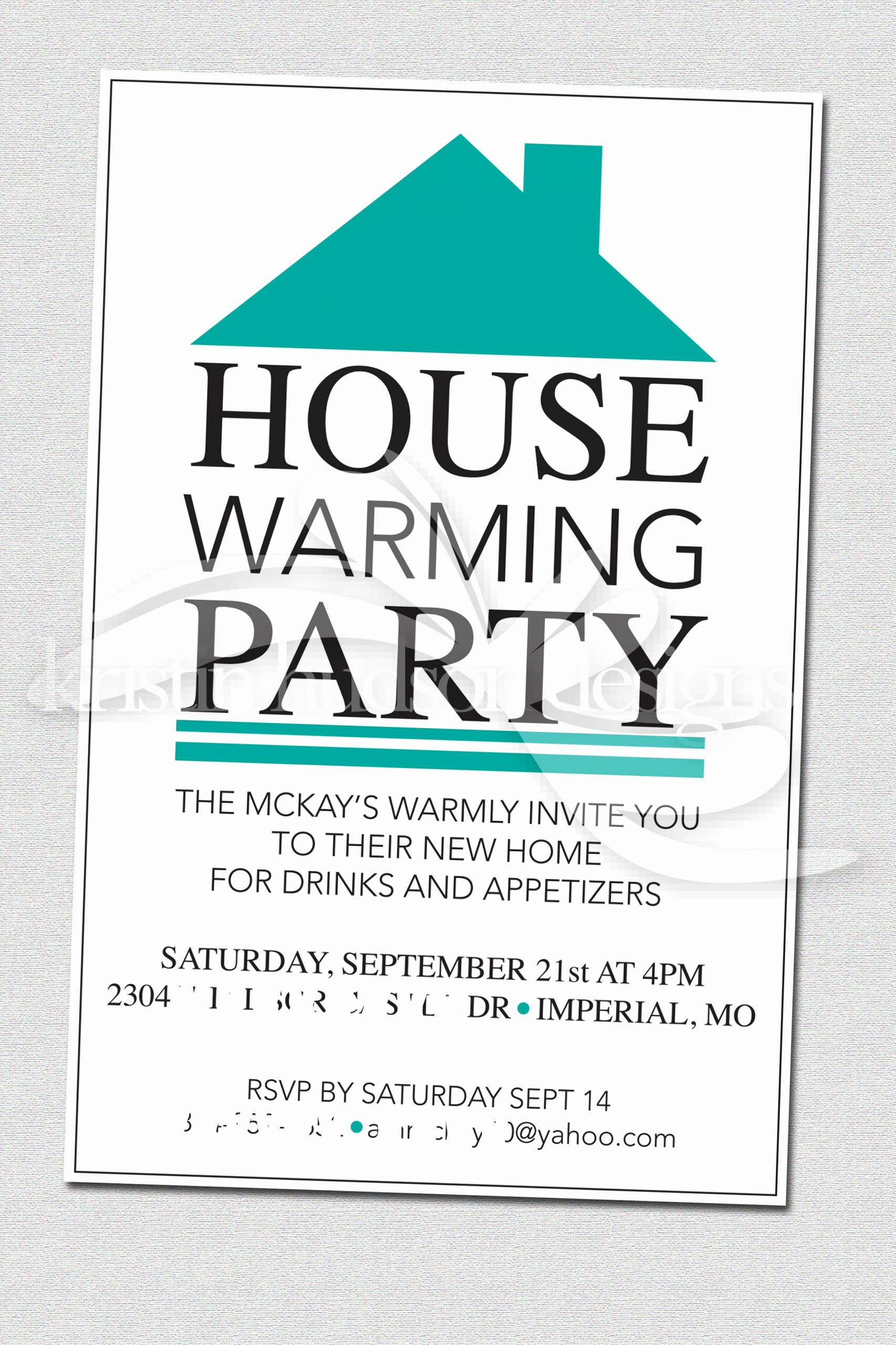Free Open House Invitation Template Unique House Warming Party Invite