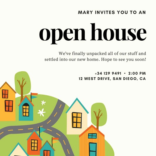 Free Open House Invitation Template Unique Open House Invitation Templates Canva