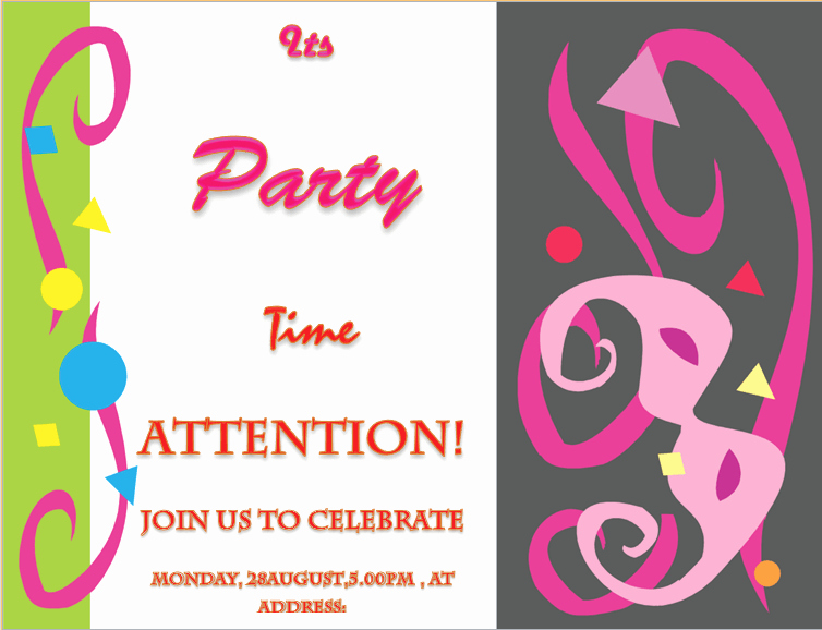 Free Party Invitation Template Word Awesome Party Invitation Template Invite Your Friends In Style