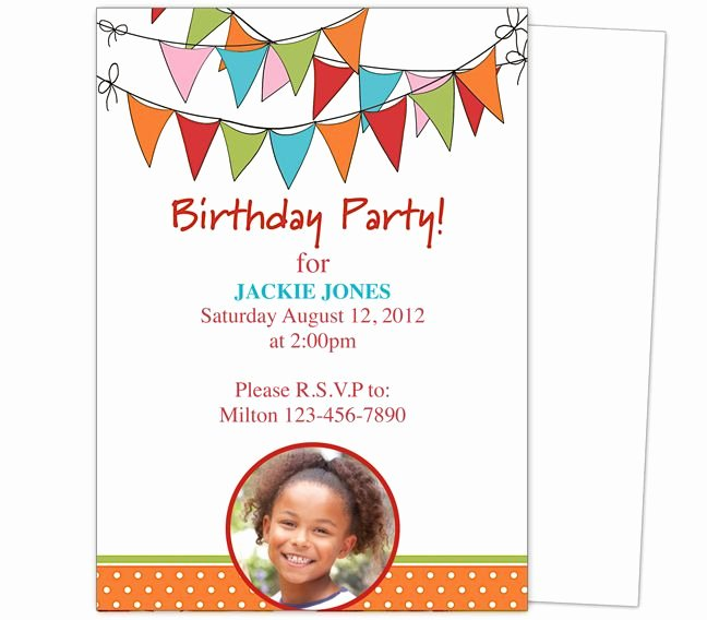 Free Party Invitation Template Word Lovely 23 Best Images About Kids Birthday Party Invitation