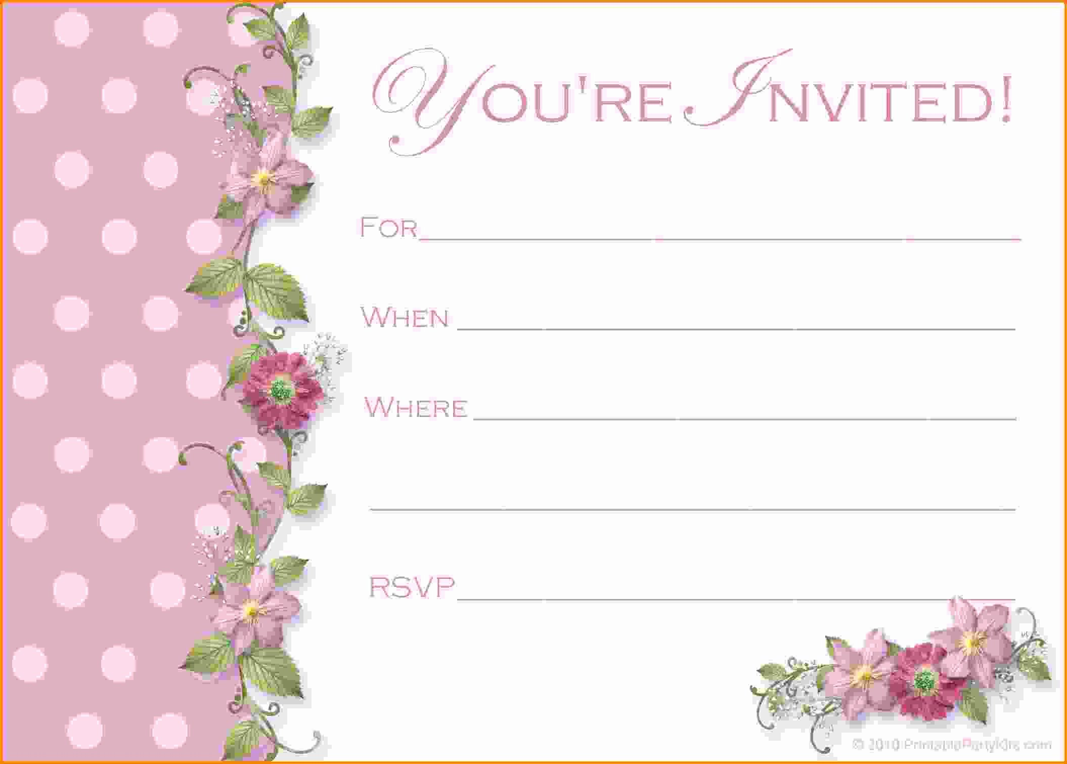 Free Party Invitation Template Word Lovely Free Party Invitation Templates Word