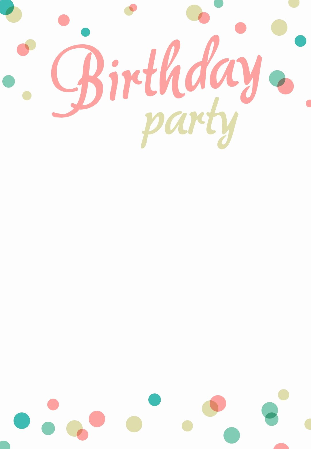 Free Party Invitation Template Word Luxury Birthday Party Invitation Free Printable