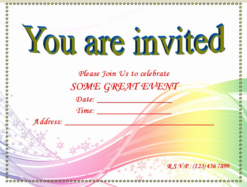 Free Party Invitation Template Word Luxury Invitation Youth Minister Riverchase Church Of Christ