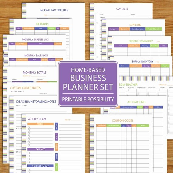 Free Printable Business Plan Template Beautiful Small Business Planner Home Business Planner Etsy Business