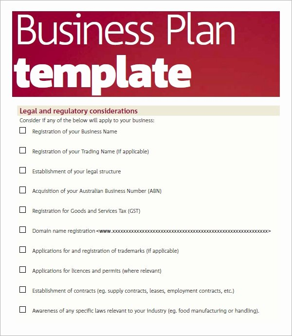 Free Printable Business Plan Template Fresh Free 32 Sample Business Plans and Templates In Google