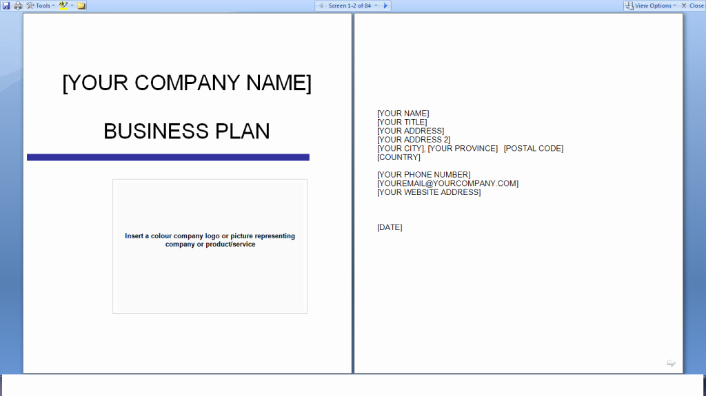 Free Printable Business Plan Template New Business Plan Template Download Free – Printable Schedule