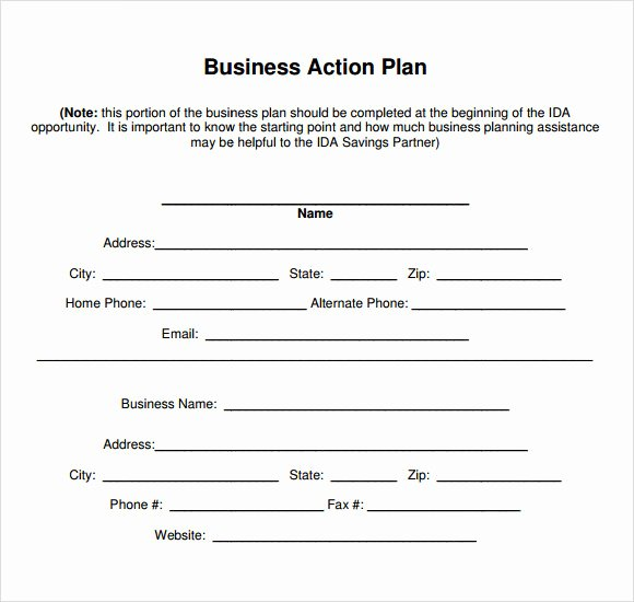 Free Printable Business Plan Template New Sample Business Action Plan – 13 Examples In Word Pdf format