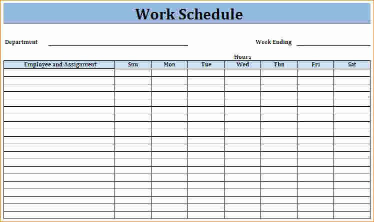 Free Printable Weekly Schedule Template New Blank Employee Schedule