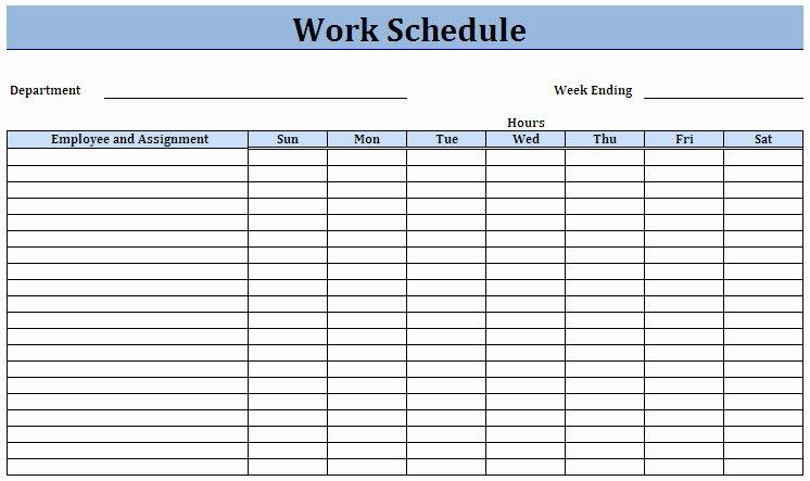 Free Restaurant Schedule Template Fresh Free Employee Work Schedules
