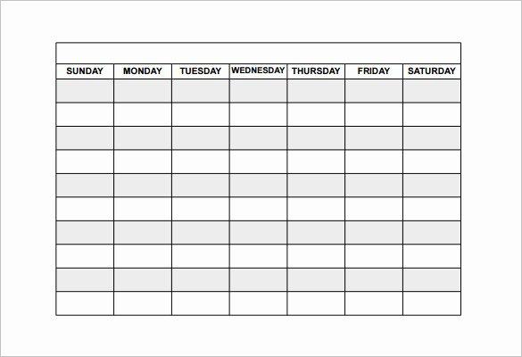 Free Restaurant Schedule Template Inspirational Free Schedule Template