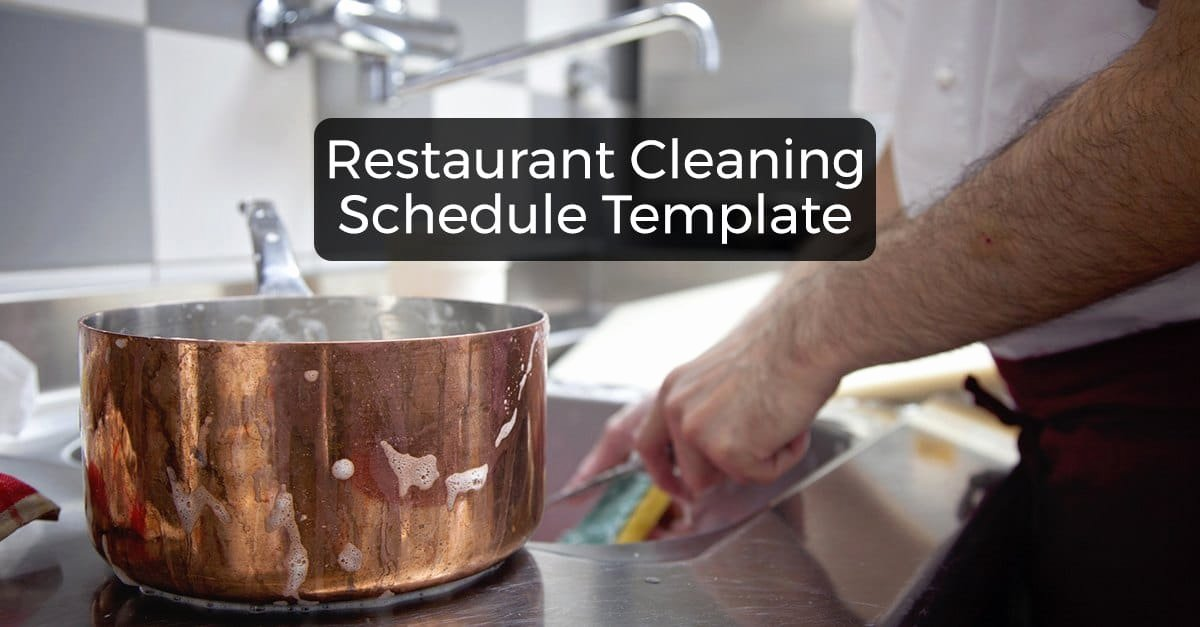 Free Restaurant Schedule Template Lovely Restaurant Cleaning Schedule Free Downloadable Template