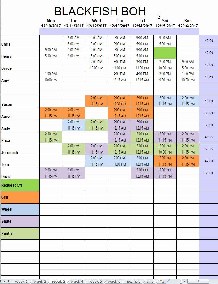 Free Restaurant Schedule Template New Restaurant Kitchen Schedule Template Excel Chefs Resources