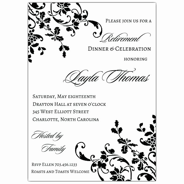 Free Retirement Party Program Template Beautiful Floral Stripe Retirement Invitations