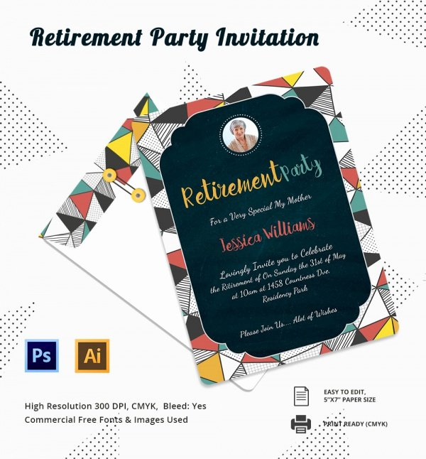 Free Retirement Party Program Template Beautiful Free 17 Retirement Party Invitations In Illustrator