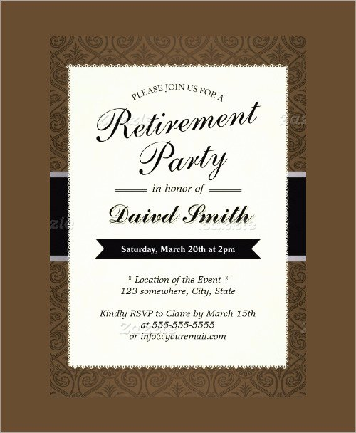 Free Retirement Party Program Template Beautiful Sample Invitation Template Download Premium and Free