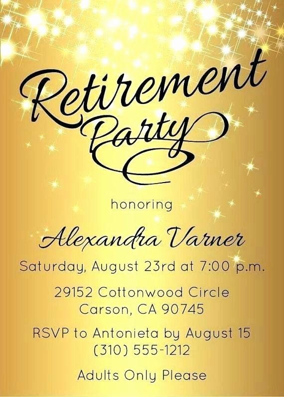 Free Retirement Party Program Template Best Of Retirement Party Flyer Template Word