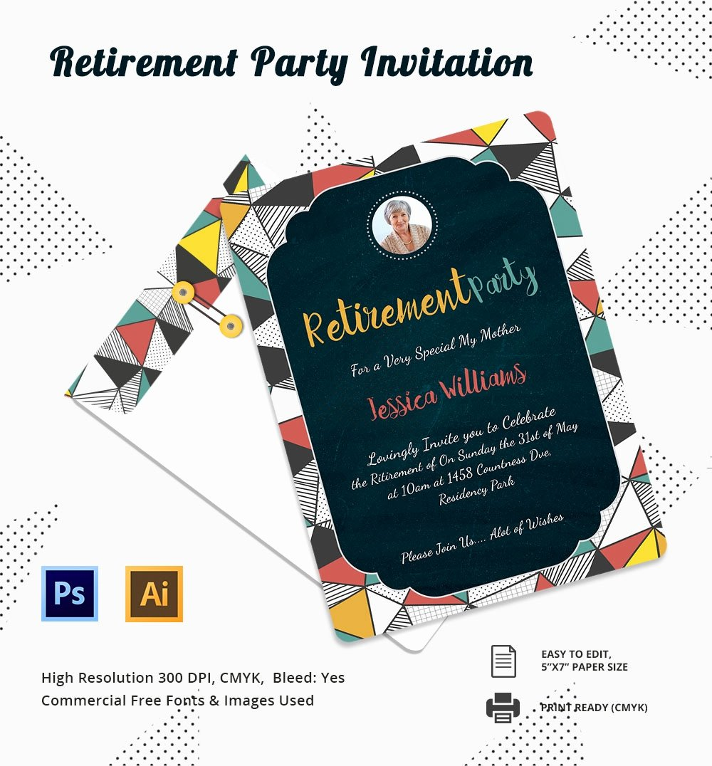 Free Retirement Party Program Template Fresh 25 Retirement Invitation Templates Psd Vector Eps Ai
