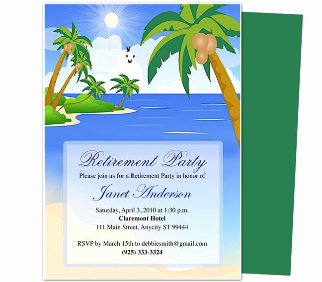 Free Retirement Party Program Template Fresh Retirement Templates Paradise Retirement Party