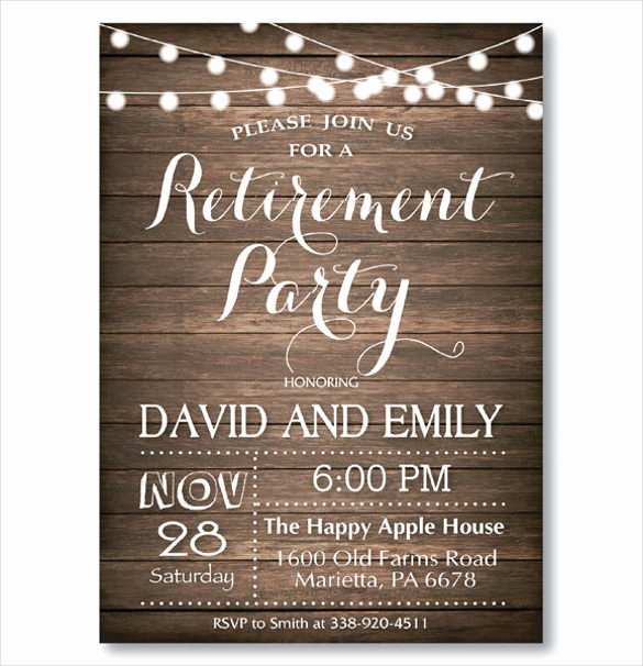 Free Retirement Party Program Template Inspirational 36 Retirement Party Invitation Templates Psd Ai Word