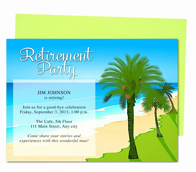Free Retirement Party Program Template Inspirational Tropical Oasis Retirement Party Invitation Templates Use