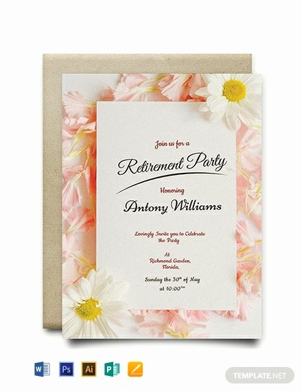 Free Retirement Party Program Template Lovely Free Printable Retirement Party Invitation Template