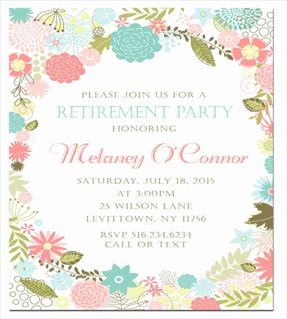 Free Retirement Party Program Template Lovely Retirement Party Invitation Template – 36 Free Psd format
