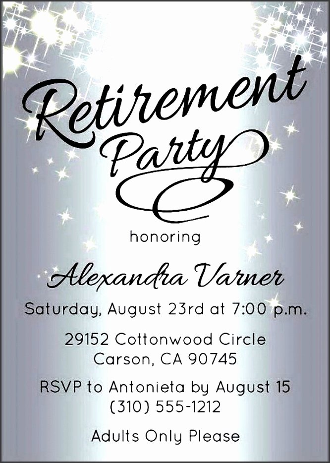 Free Retirement Party Program Template Luxury 10 Retirement Party Invitation Template Sampletemplatess