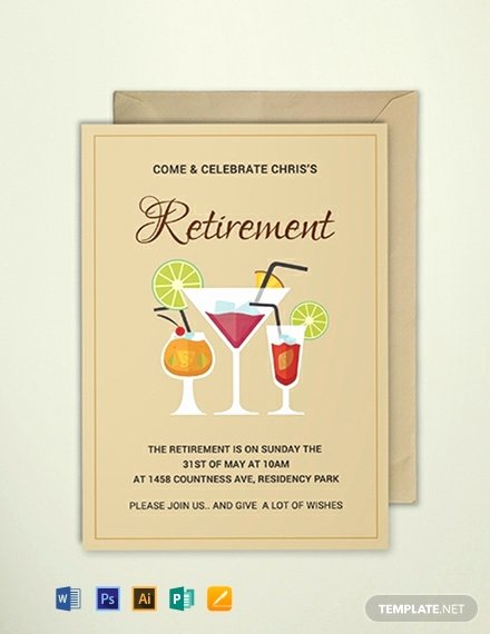 Free Retirement Party Program Template Luxury Free Printable Retirement Party Invitation Template Word