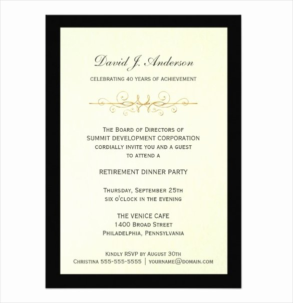 Free Retirement Party Program Template Luxury Free Retirement Party Invitation Templates for Word
