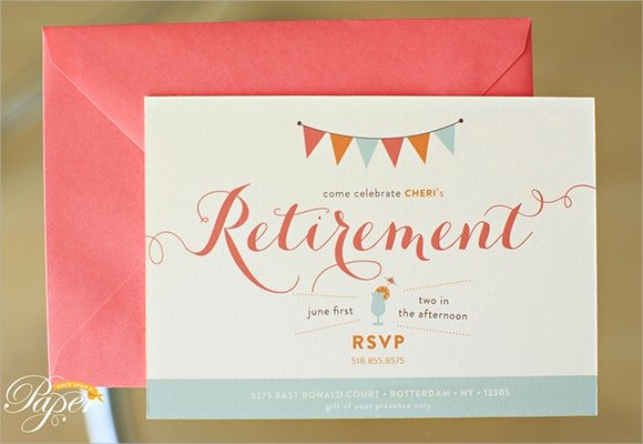 Free Retirement Party Program Template Unique Free 17 Retirement Party Invitations In Illustrator