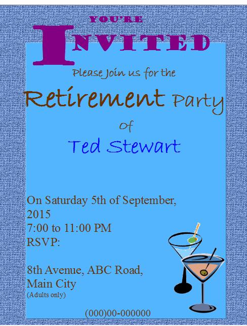 Free Retirement Party Program Template Unique Retirement Party Flyer Templates Free