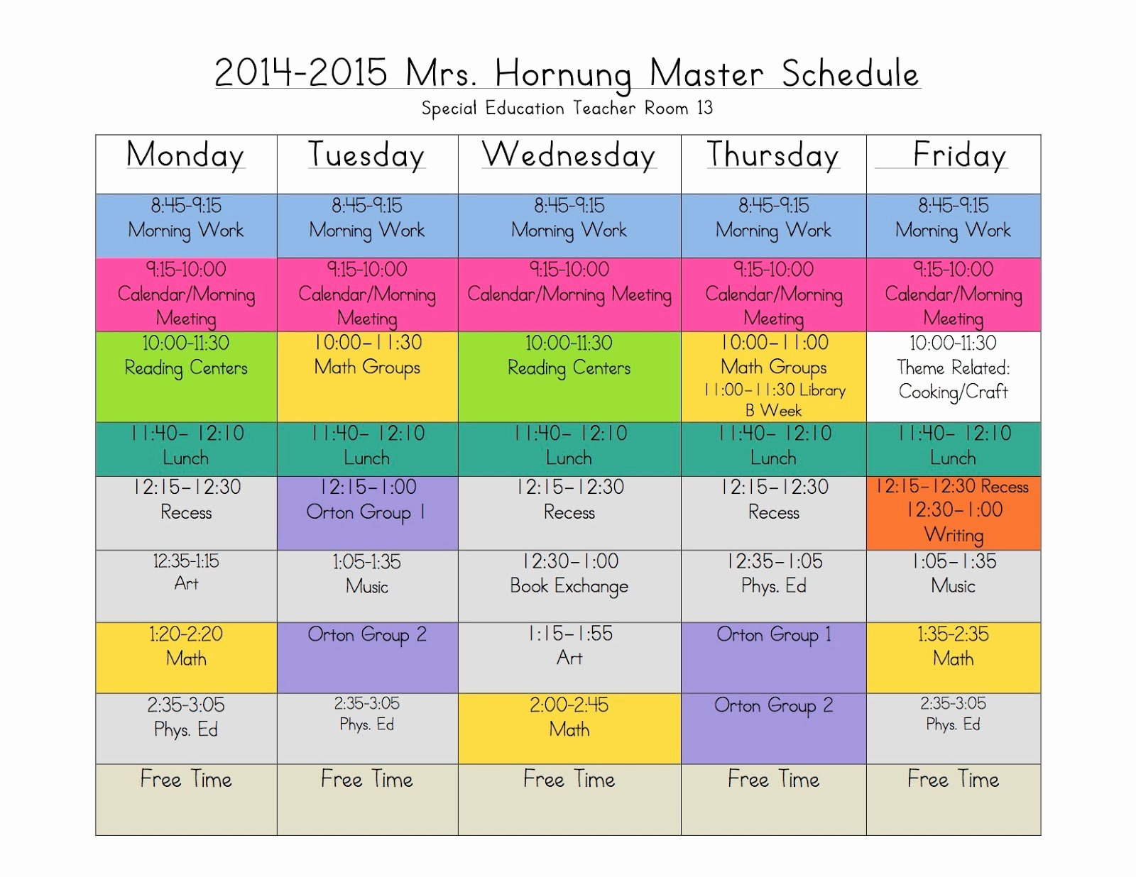 Free School Master Schedule Template Awesome 4 Ways to Rock Out A Self Contained Schedule