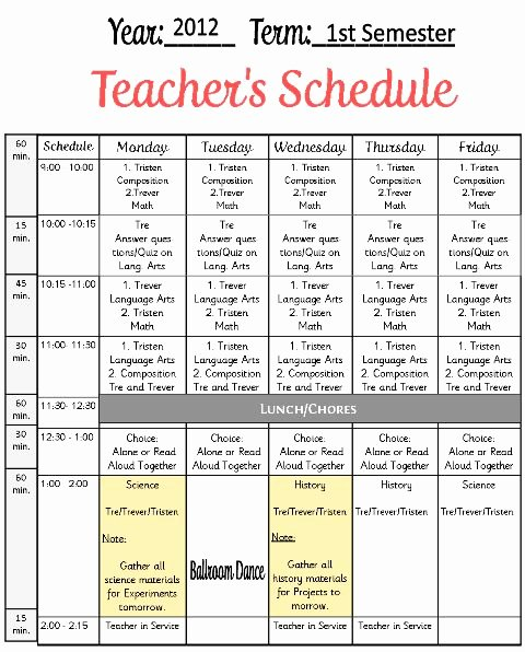 Free School Master Schedule Template Best Of 157 Best Free Curriculum Planners Images On Pinterest