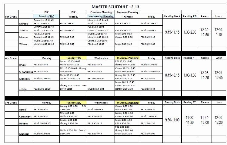 Free School Master Schedule Template Luxury Kids Rock Creating A School Master Schedule
