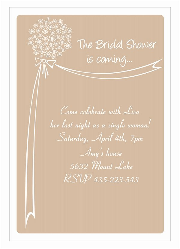 Free Shower Invitation Template Luxury 22 Free Bridal Shower Printable Invitations All Free